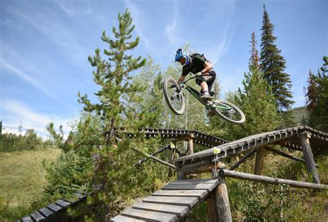 steamboat quick and chainless no pedaling required for saturday s downhill mountain bike