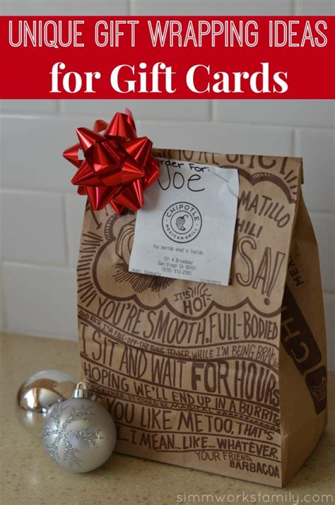 Personalize Gift Cards - unique gift wrapping ideas for gift cards a crafty spoonful