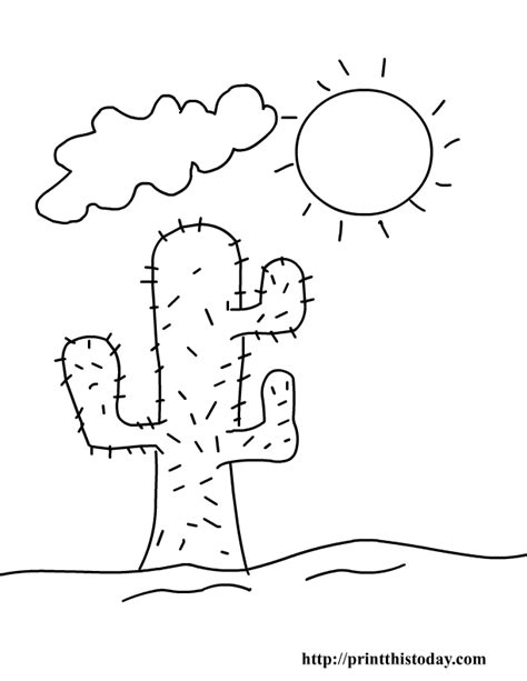 desert coloring pages free printable summer coloring pages