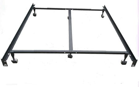 Bed Frame With Casters Heavy Duty Steel Metal Bed Frame With Casters Use With Headboard