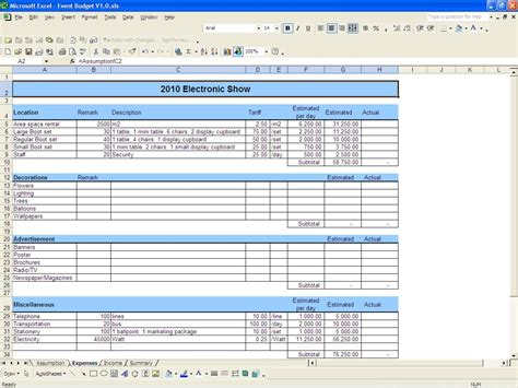 sample business budget template business budget template for excel