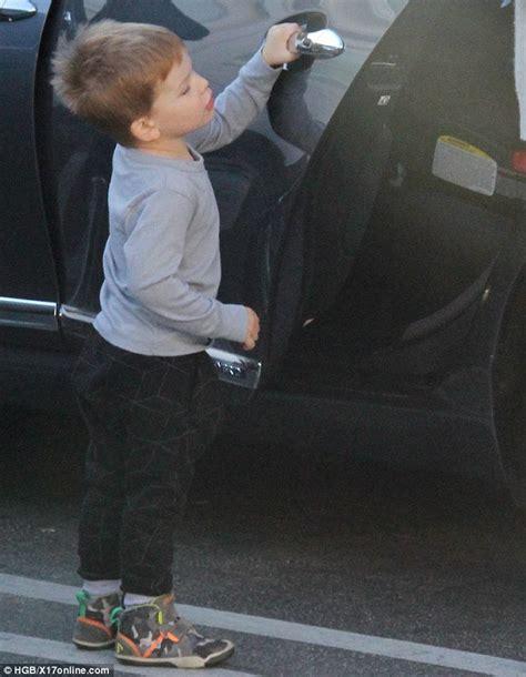 Jennifer garner s son samuel opens the car door for his mother in la
