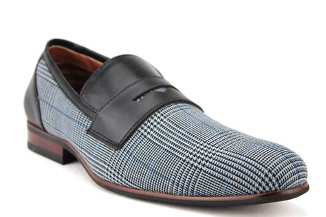mens ferro aldo plaid loafers slip on casual driving