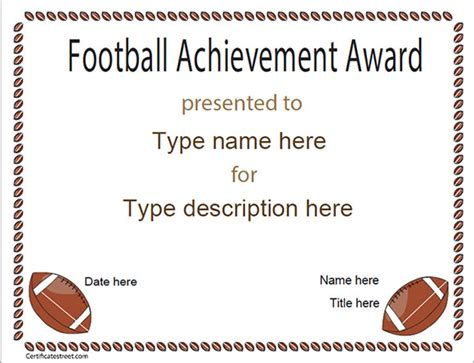 football certificate templates football certificate template 16 documents in