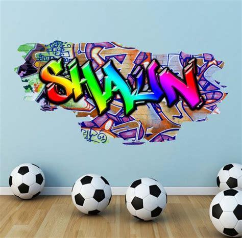 graffiti personnalise nom mur stickers couleur mur par