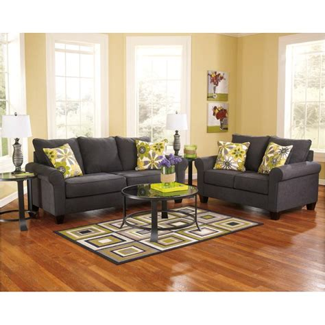 1650138 furniture nolana charcoal living room sofa