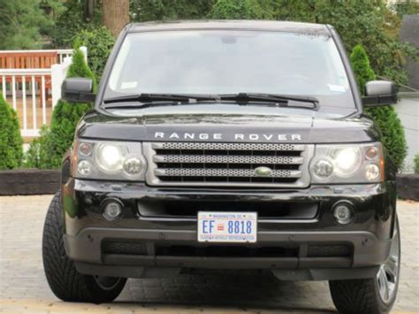 find used 2007 range rover sport black on black with
