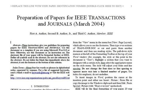 ieee journal template ieee journal template 28 images 1 st internationa