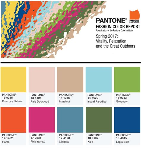 trend color 2017 pantone s top 10 spring summer 2017 color trends hot