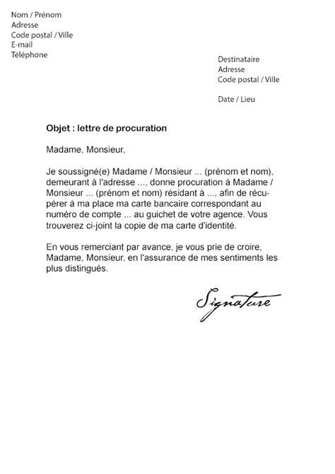 Exemple De Lettre De Procuration Bancaire Gratuite Lettre De Procuration Carte Bancaire Mod 232 Le De Lettre