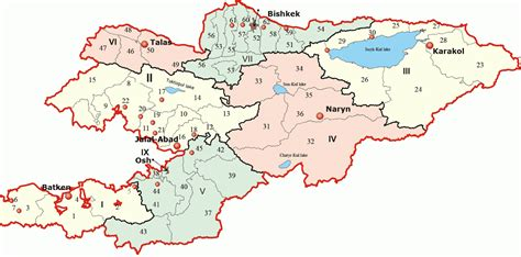 kirgistan map kyrgyzstan map political regional maps of asia regional