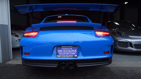 miami blue porsche gt3 rs miami blue porsche 911 gt3 rs pdk has sharkwerk exhaust