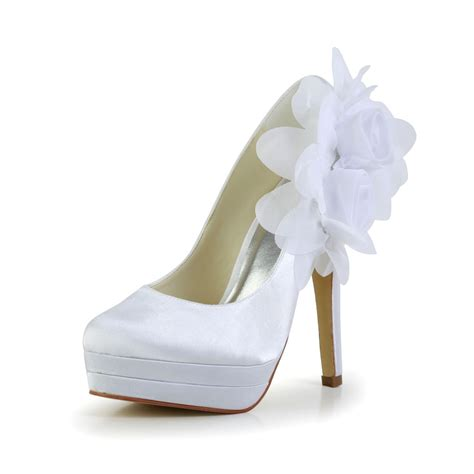 Satin Pumps Wedding by S Satin Stiletto Heel Closed Toe Platform Pumps