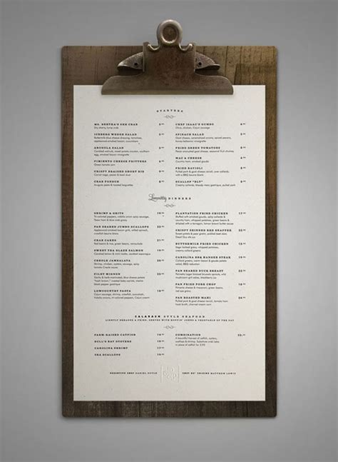 menu card design layout 45 remarkable food drink menu designs web graphic