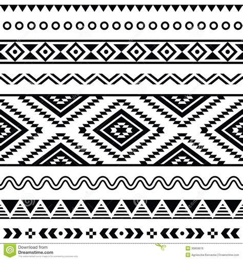 tribal pattern black and white free southwest clip art designs more similar stock