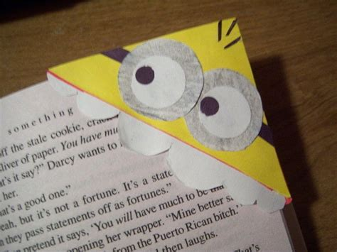 How To Make A Bookmark Out Of Paper For - diy despicable me minion bookmark 183 how to make a corner