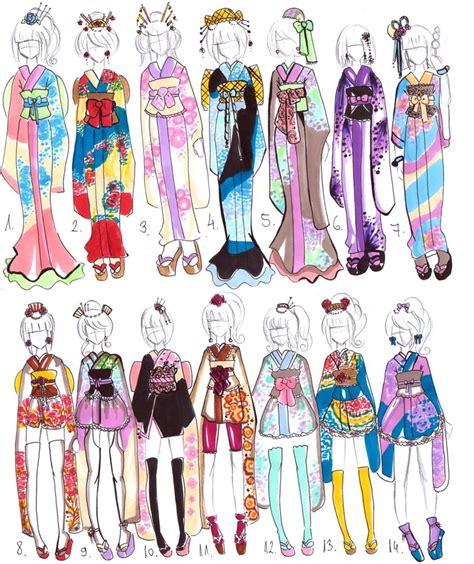kimono pattern layout kimono designs closed by guppie adopts on deviantart