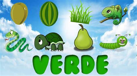 imagenes de cosas verdes el color verde para ni 241 os cosas de color verde youtube