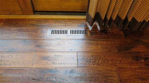 solid hickory cafe true heritage hand scraped prefinished traditional hardwood flooring