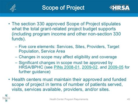section 330 grant health center program requirements