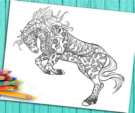 Digital Coloring Book Page for Adults ? Download and Print