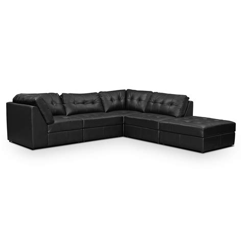 5 pc sectional largo black 5 pc sectional furniture com