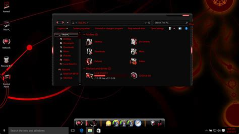 download live themes for windows 10 alienware red skin pack skinpack customize your