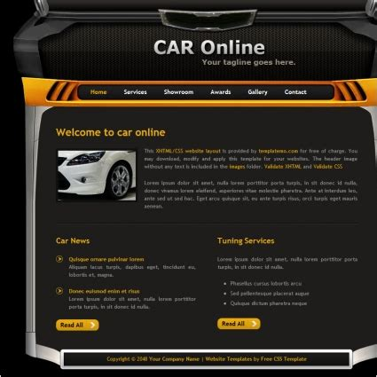 free car templates car free website templates in css html js format for