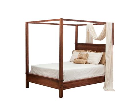 modern canopy bed from dutchcrafters amish furniture