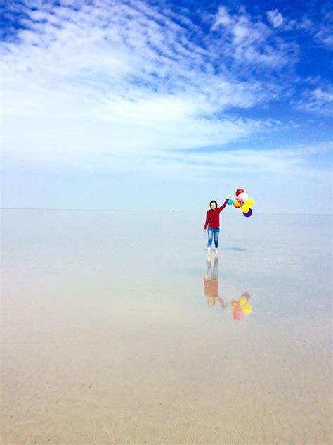 Cermin Besar Malaysia serius cantik pantai persis cermin di kuala selangor ini