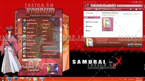 download themes windows 7 samurai x tema windows 7 kenshin desk sm