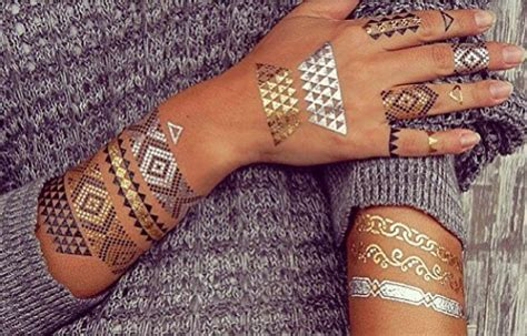 metallic tattoo major trend alert the flash