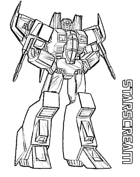 coloring book pages online starscream transformers coloring page transformer