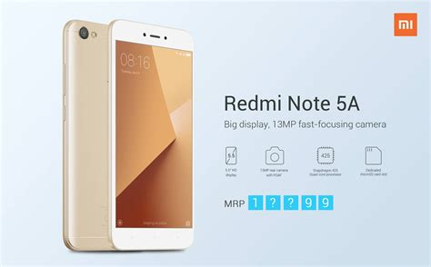 redmi 5a xiaomi redmi note 5a launch date specifications price in
