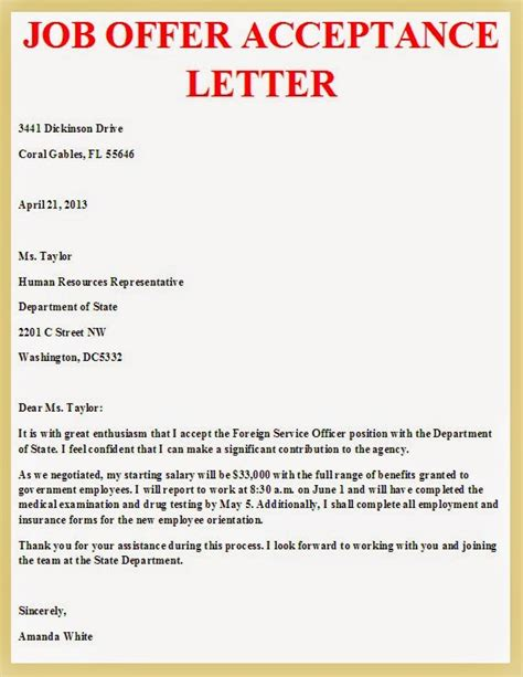 Business Letter Sles Acceptance Sle Business Letter January 2016