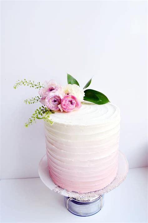 wedding cake of the day pink ombr flower wedding cake 25 pastel wedding cakes for spring and summer weddingomania