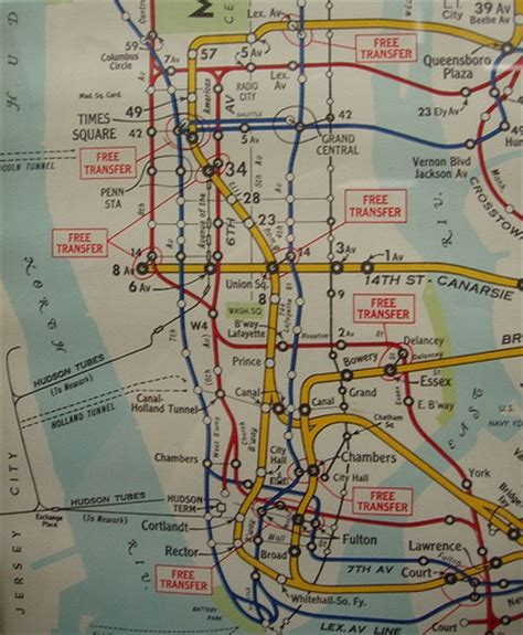 subway map for manhattan lower manhattan subway map 1951 maps globes charts