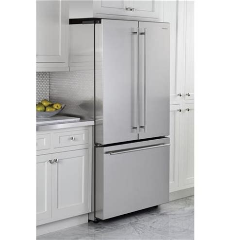 cut out dimensions for 23 cu ft counter depth french door zwe23eshss monogram energy star 174 23 1 cu ft counter