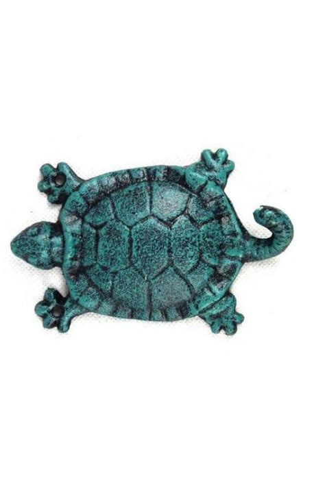 turtle decorations for home buy seaworn blue cast iron turtle key hook 6 inch
