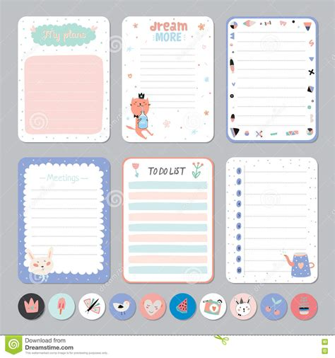 printable planner cute cute weekly planner template templates station