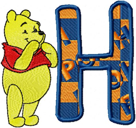 """free embroidery design """" winnie pooh letter h"""" news"""