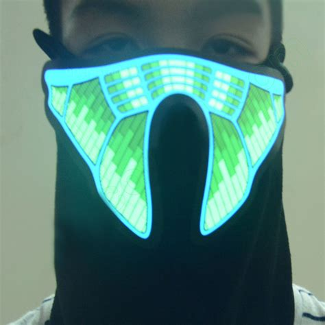 light up face mask face mask light up flashing luminous for halloween party