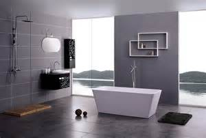 modern shower bath modern bathroom with white freestanding stone tub and