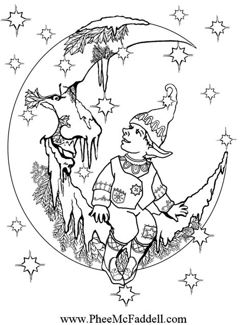 small elf coloring page free coloring pages of little elf