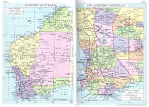 western map western australia map 1935 philatelic database