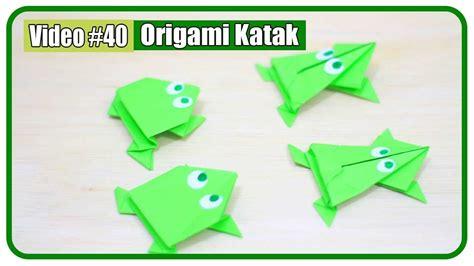 membuat origami katak melompat origami katak lompat kodok loncat 2 versi mudah mainan