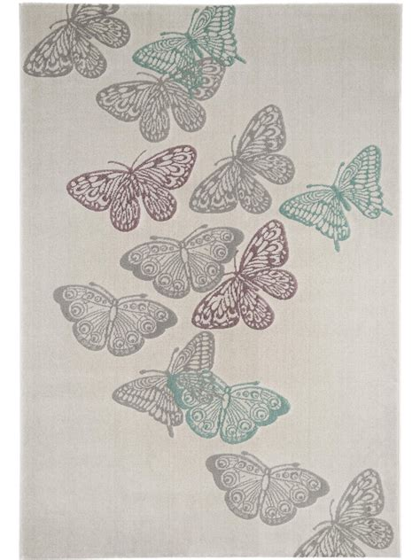 butterfly rug butterfly grey purple teal large soft modern