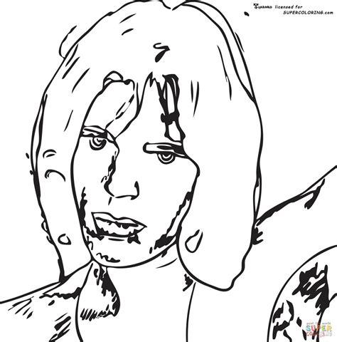 marilyn monroe andy warhol coloring page sketch coloring page