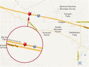 arizona mile marker map semi truck on i 10 kills 7 truck
