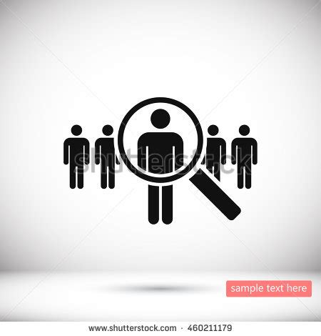 talent search free people icons search talent idea looking employees job stock vector